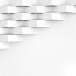 White wallpaper background for cover design 3d render